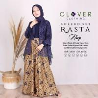 BAJU GAMIS Wanita Muslimah Pesta Batik Brokat Bolero Set Rasta Clv