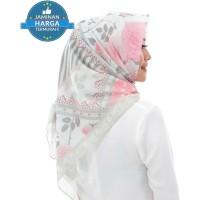 Jilbab Hijab Segi Empat Syar'i Motif Seruni Bahan Premium Voal