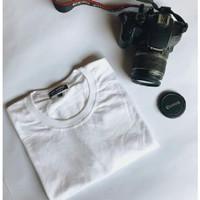 kaos polos premium HQ putih katun modal cotton 30s baju pria wanita