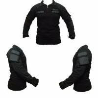 combat shirt hitam /baju bdu/tactical/army/kaos pria/combat shirt