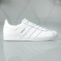 Sepatu Casual Wanita Adidas Gazelle J Full White Original BNWB Murah