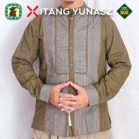 Baju Koko Kemeja Itang Yunaz & Gajah Duduk Bronze Long Exclusive