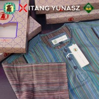 Baju Koko Kemeja Itang Yunaz & Gajah Duduk Green Short Exclusive