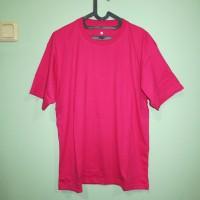 Kaos polos pink tua atau fanta ukuran XS - XXL cotton combed - Pink Fanta, XS