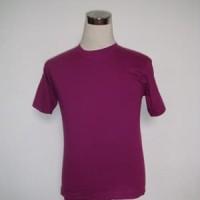 Kaos polos ungu tua 20s ukuran XS - XXL cotton combed - Ungu, XS