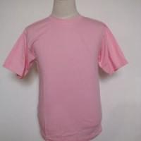 Kaos polos pink muda atau pink baby ukuran XS - XXL cotton combed - Merah Muda, XS