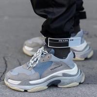 Sepatu Balenciaga Triple S Grey Premium Original