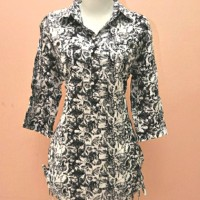 blouse atasan wanita blus batik harga diskon spesial