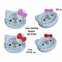 Jam Dinding Kepala Hello Kitty (JUMBO)