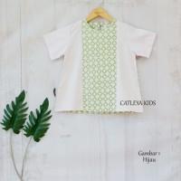 Baju Atasan Batik Anak Perempuan Sun FLower Series (Baby Pink)