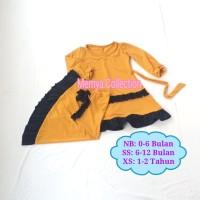 gamis bayi perempuan Newborn / baju muslim bayi baru lahir murah, lucu