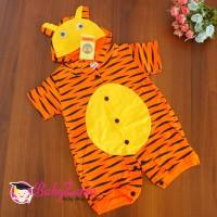Baju Roomper anak karakter macan orange