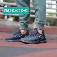Sepatu Pria Nike Air Max 270 Black Blue Murah