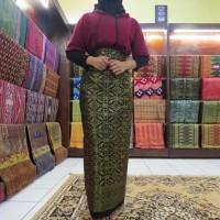 Kain Songket Palembang Meteran Hitam D (Harga Per 1/2meter = 50cm)