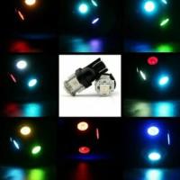 T10 W5W LAMPU SENJA LED RGB RAINBOW