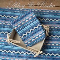 Kain Kanvas Impor motif Blue Tribal