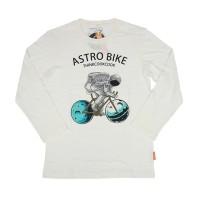 T-shirt cotton combed 30s / LS ASTRO BIKE BW / THINKCOOKCOOK