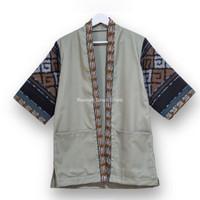 Baju Tenun Pria - Kimono Tenun - Atasan