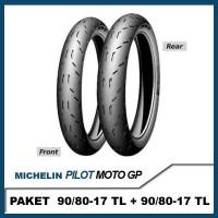 PAKET MICHELIN PILOT MOTOGP 90/80-17 + 90/80-17 Ban TUBELESS ROAD RACE