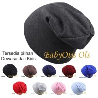 Plain Beanie Topi Kupluk Anak atau Dewasa Warna Polos Pria Wanita