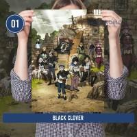Poster Anime Black Clover Lengkap Size A3