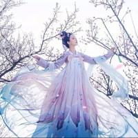 babydoll cheongsam long dress dewasa bunga floral imlek modern hanfu