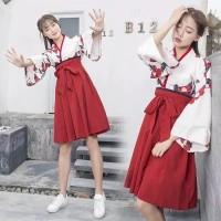 babydoll cheongsam short dress dewasa bunga floral imlek modern hanfu
