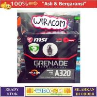 MSI A320M GRENADE AMD A320 AM4 DDR4 USB3.1 Motherboard RYZEN GARANSI