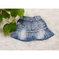 JU432 rok jeans mini anak cewek 24th