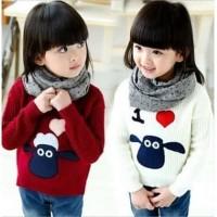 Baju model sweater rajut melar anak perempuan cewek tebal musim dingin