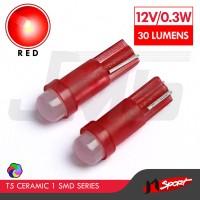 Lampu LED Mobil / Motor / Speedometer T5 Ceramic 1 SMD - Red