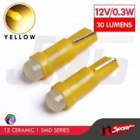 Lampu LED Mobil / Motor / Speedometer T5 Ceramic 1 SMD - Yellow