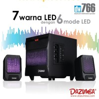 Speaker Aktif LED Dazumba DW766 - Bluetooth, USB, SD, Aux In