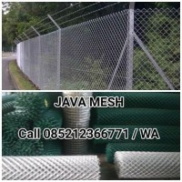 Kawat Harmonika Jaring Lapngan Futsal Termurah Galvanis & PVC
