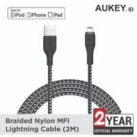 Aukey Cable 2M Lightning Braided MFI Apple black - 500212