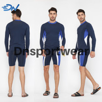 Setelan renang pria baju renang jumbo dan celana renang laki-laki - Biru, S
