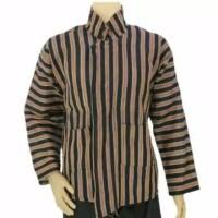 Baju adat Jawa sorjan dewasa / baju lurik sorjan dewasa