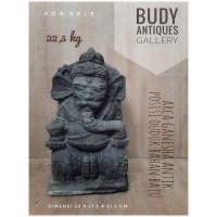 Arca Ganesha Antik Posisi Duduk Bahan Batu