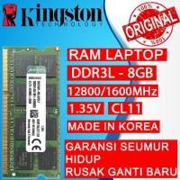 RAM LAPTOP KINGSTON DDR3L 8GB 12800/1600MHz ORI RAM SODIMM 1.35v 8GB