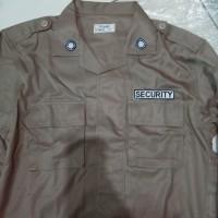 baju dan celana setelan pdl security terbaru bahan jatah polri