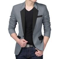 dm BLAZERMAN 2 blazer katun outwear atasan top pakaian pria baju cowok