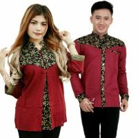 batik couple kombinasi batik pasangan baju pria wanita cauple bluse