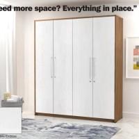 Lemari Pakaian 4 Pintu Modern Minimalis LP 4015