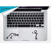 macbook decal tracpad stick figure skin laptop aksesoris