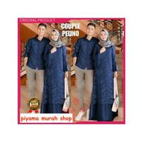 Baju Couple Dress Wanita Muslim Syari Terbaru Gamis Brukat Pasangan