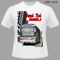 Kaos Bis Dewi Sri Baju Bus Besli Tshirt Bismania DS-02