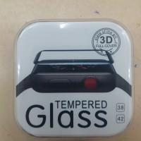 I watch apple anti gores kaca / tempered glas 3D black full Glue
