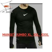 Manset kaos jumbo big size / baselayer jumbo nike / baju olahraga
