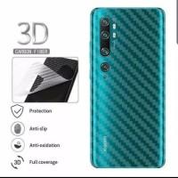 Xiaomi Mi Note 10/Note 10 Pro Skin Carbon Garskin Anti Gores Belakang