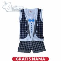 Baju Bayi Setelan Tuxedo Singlet 0-18 bulan - 3-6 bulan